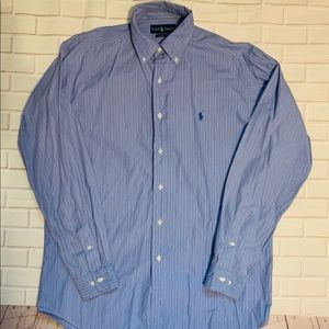 Ralph Lauren Classic Fit Dress Shirt 15 blue BD12